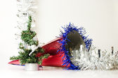Cap and artificial fur-tree — Stock Photo