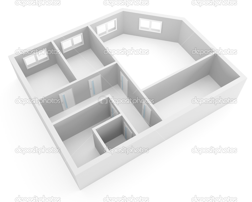 Plan of modern apartment stock photo serp77 4266723 for Apartment stock plans
