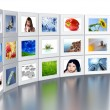 Set of monitors — Stock Photo