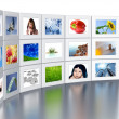 Set of monitors — Stockfoto