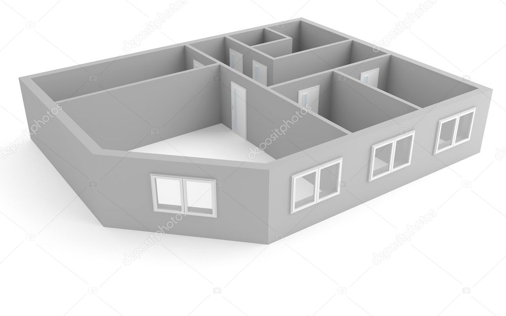 Plan of modern apartment stock photo serp77 4277771 for Apartment stock plans
