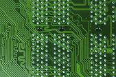 Green microcircuit — Stock Photo