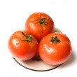 Stock Photo: Wet tomatoes