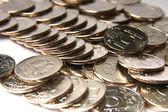 Metallic coins — Stock Photo