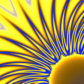 Stylized sun — Stock Photo
