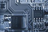 ブルー マイクロ回路 — ストック写真