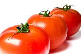 Three ripe tomatoes — Stock Photo
