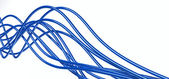 Blue cables — Stock Photo