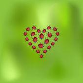 Biedronka serca — Wektor stockowy
