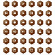 Honeycomb buttons set — Stock Vector