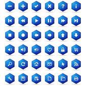 Honeycomb buttons set — Stock Vector