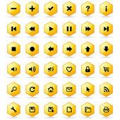 Conjunto de botões de favo de mel — Vetorial Stock