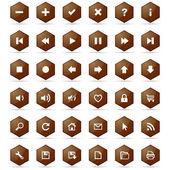 Honeycomb buttons set — Stockvektor