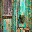 Old wooden door. - Stock Photo