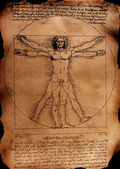 Photo of the Vitruvian Man by Leonardo — Stock Photo