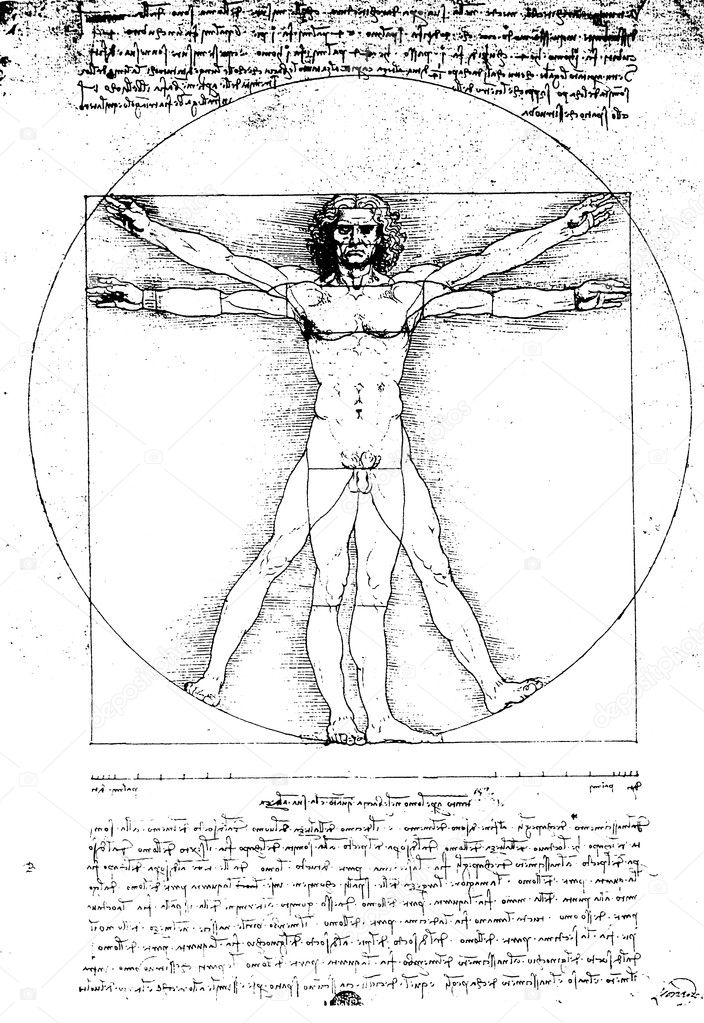 vitruvian man by leonardo da vinci stock photo janaka 3932149. Black Bedroom Furniture Sets. Home Design Ideas