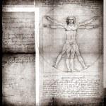 Постер, плакат: Photo of the Vitruvian Man by Leonardo Da Vinci