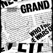 News paper text - Foto Stock
