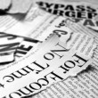 News papers — Stock Photo #3971623