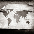 Vintage world map — Foto Stock