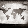 Vintage world map - Stock Photo