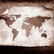 Vintage world map — Stockfoto