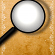 Decorative border with magnifying glass — Stock Photo #3971973
