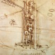 Leonardo's Da Vinci engineering drawing — Stock Photo #3972548