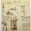 Leonardo's Da Vinci engineering drawing — Stock Photo