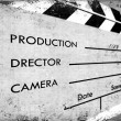 Clapboard - Stock Photo