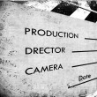 Clapboard Clapboard — Stock Photo