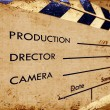 Clapboard - Stok fotoraf
