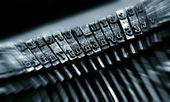 Close up of old typewriter — Stock Photo