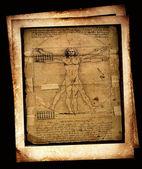 Zdjęcie człowiek witruwiański leonarda da vinci — Zdjęcie stockowe