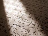 English handwriting — Stock Photo