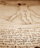 Photo of the Vitruvian Man — Stock Photo