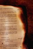 Libro quemado — Foto de Stock