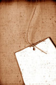 Handmade paper tag — Stock Photo