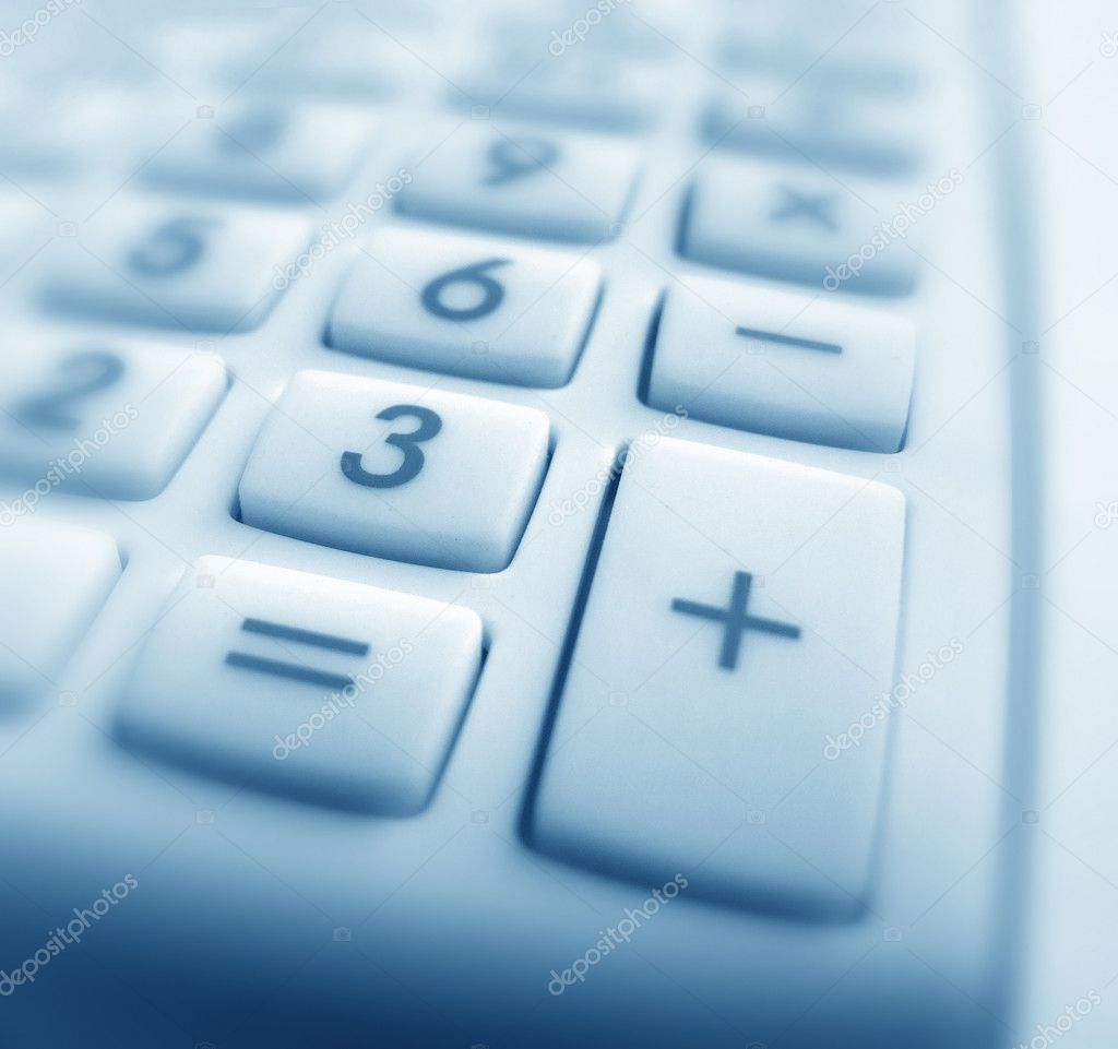Close up of Calculator keypad  Stock Photo #3970798