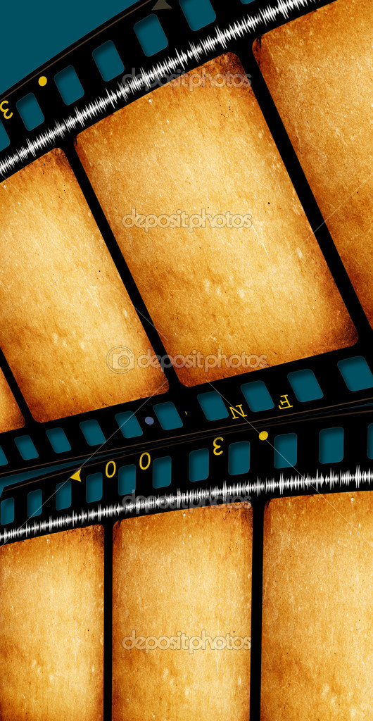 Close up of vintage movie film strips — Stock Photo #4489141