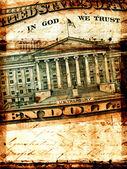 Abstract US dollar — Stock Photo