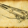 Leonardo's DVinci engineering & Anatomy drawing — Stock Photo #4511295