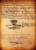 Leonardo's Da Vinci engineering drawing — Zdjęcie stockowe