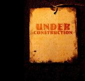 Under construction grunge — Stock Photo