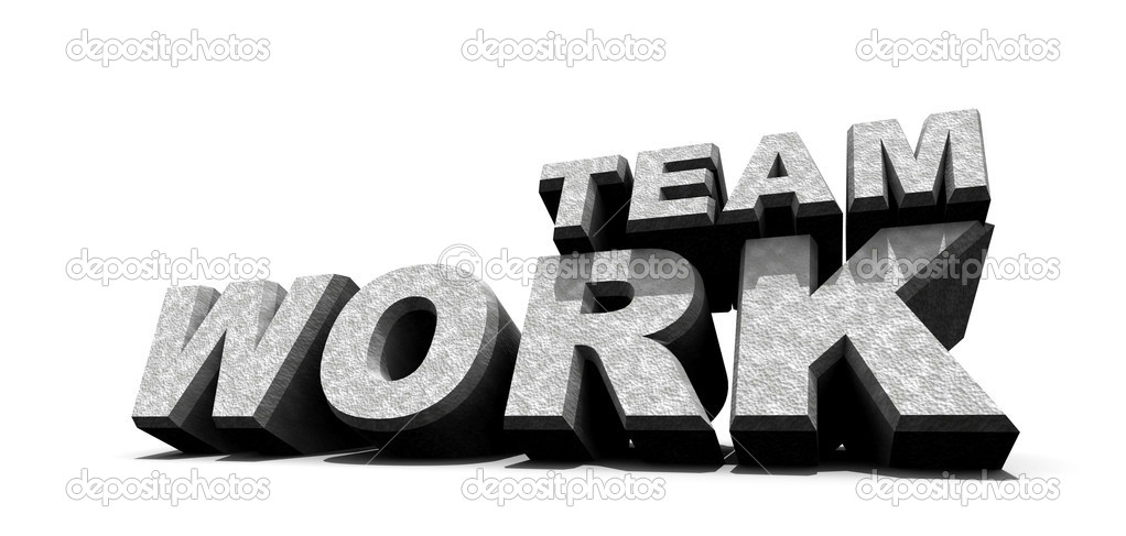 Teamwork word  over white, 3D art — Stock Photo #4610756
