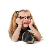 Child Guinea pig — Stock Photo