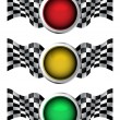 Stock Vector: Racing traffic lights