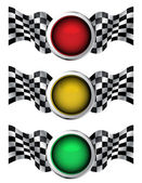 Racing traffic lights — Stock Vector