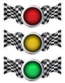 Semáforos de carreras — Vector de stock