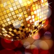 Disco ball corner — Vector de stock